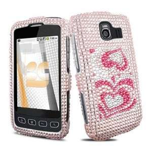 Diamond Bling Snap On Hard Case Cover Phone Protector (free EDS Shield