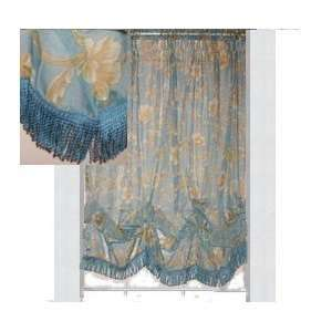 JC Penney Voile Lisette Scroll Balloon Shade Blue