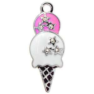 DIY Jewelry Making 12x Ice Cream Alloy Charms, Enameled