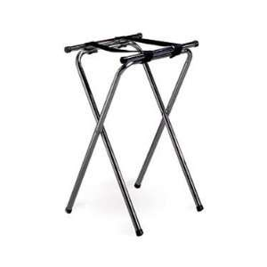 Tablecraft Chrome Plated Metal Tray Stand With Double Bar
