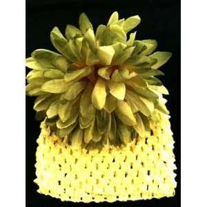 Green Crochet Elastic Baby Girls & Toddler Flower r Beanie & Hat Mum