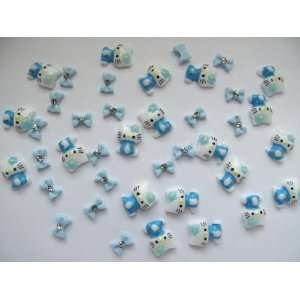 Nail Art 3d 40 Pieces Mix Blue Hello Kitty/Bow for Nails, Cellphones 1