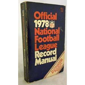 Official 1978 National Football League (NFL) Record Manual: Books