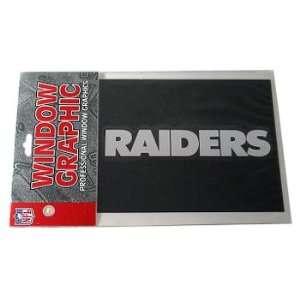 Raiders Silver Decal Logo Window Sticker Nfl
