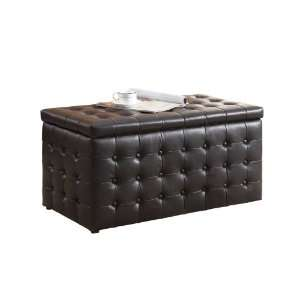 Lift Top Storage Bench with 2 Ottomans:  Home & Kitchen