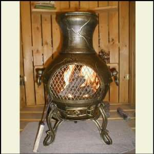 Etruscan Style Chiminea Outdoor Fireplace: Patio, Lawn & Garden