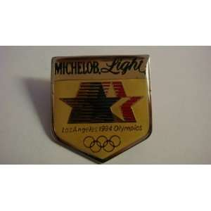 The 1984 Olympic Michelob Light Sponsor pin, Gold Plated