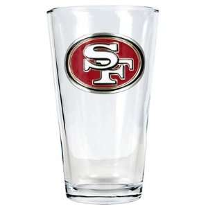 Personalized San Francisco 49ers Pint Glass Gift