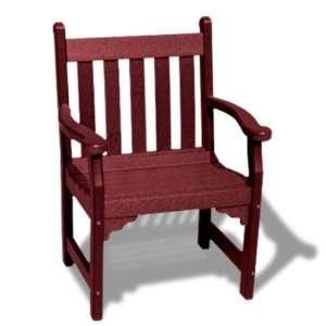 Outdoor Recycled Plastic Armchair, Burgundy Patio, Lawn & Garden