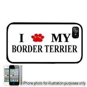 Border Terrier Paw Love Dog Apple iPhone 4 4S Case Cover