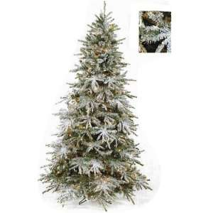 7.5 ft. Prelit Slim Snow Tree by Select Artificials