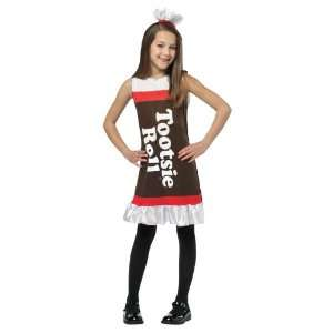 Lets Party By Rasta Imposta Tootsie Roll Ruffle Dress Child Costume