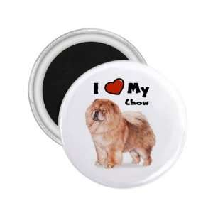 Love My Chow Chow Refrigerator Magnet