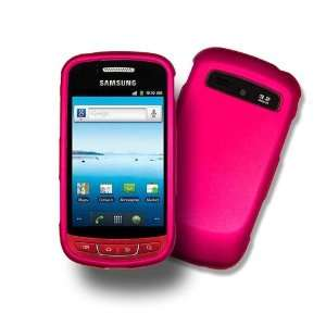 HOT PINK Samsung R720 Hard Case, Rubber Feel Snap on Cover (SCH