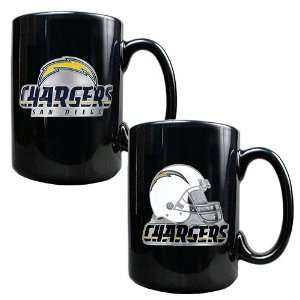 San Diego Chargers NFL 2pc Coffee Mug Set Helmet/Primary