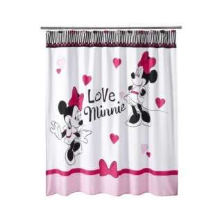 Minnie Mouse Shower Curtain   White