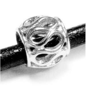 Sterling Silver Lacy Flower Bead Charm For Pandora Troll