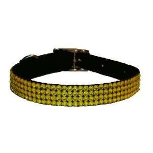 Swarovski Crystal Dog Collar Yellow 16