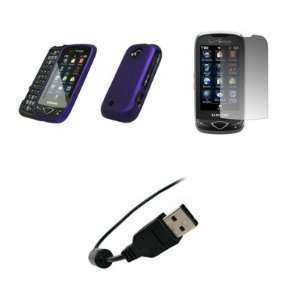 U820   Premium Purple Rubberized Snap On Cover Hard Case Cell Phone