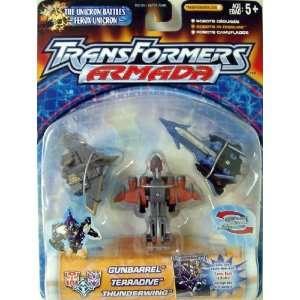 Transformers Armada gunbarrel terradive thunderwing mnc