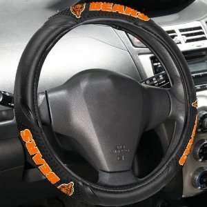 Chicago Bears Black Vinyl Massage Grip Steering Wheel