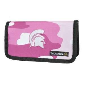 MSU Michigan State University Spartans Pink Camo Checkbook