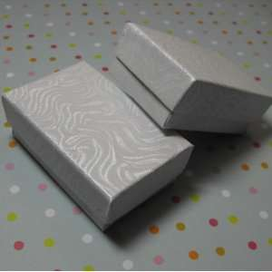 5x1 Inch Size White Swirl Cotton Filled Jewelry Gift Merchandise Boxes