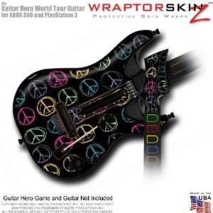 Kearas Peace Signs on Black Skin fits Band Hero, Guitar Hero 5 & World