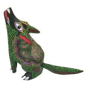 Coyote Oaxacan Wood Carving 3.75 Home & Kitchen