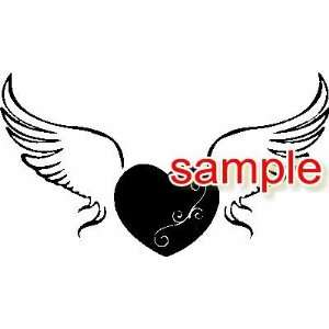 WINGS OF LOVE WHITE 10 VINYL DECAL STICKER Everything