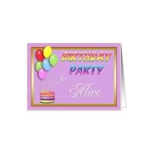 Alice Birthday Party Invitation Card Toys & Games