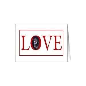 Valentines Love Greeting   featuring a Labrador Retriever