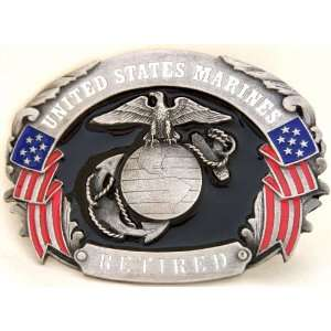 U.S. MARINE CORPS RETIRED MILITARY BELT BUCKLE CLASP CLIP