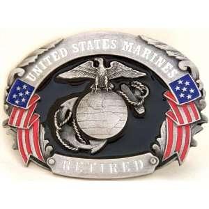 U.S. MARINE CORPS RETIRED MILITARY BELT BUCKLE CLASP CLIP