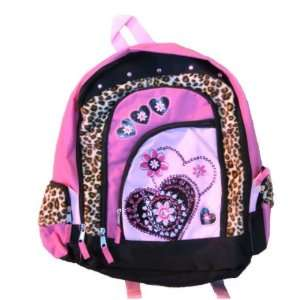 Total Girl Backpack Pink Leopard Love 26249 Sports