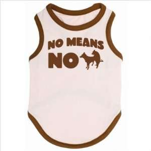 No Means No Dog T Shirt in Pink / Brown Size X Large Pet Supplies