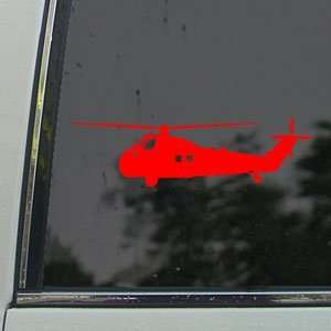 H 34 Chocktaw Sea Bat HUS Navy SAR Red Decal Car Red