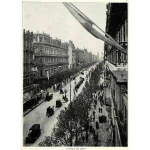1917 Print Avenida De Mayo Buenos Aires Street Scene