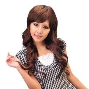 MAYSU High Quality Long Curly Light Brown Classy Soft Hair