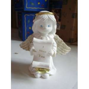 I MISS YOU HAND PAINTED ANGEL FIGURINE NEW Everything