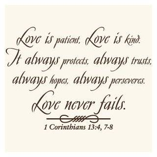Love Is Patient God Quote Vinyl Wall Art Decal Sticker