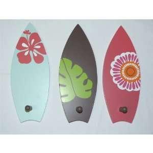 Set of 3 South Seas Hooks  Tropical Colors of Light Green