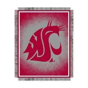 Washington State Cougars Triple Woven Jacquard NCAA Throw