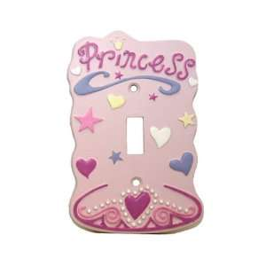 Pink PRINCESS single light SWITCHPLATE COVER girls: Home Improvement