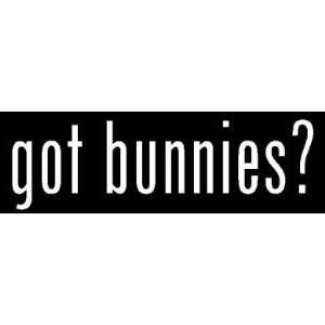 8 White Vinyl Die Cut Got Bunnies? Decal Sticker for Any