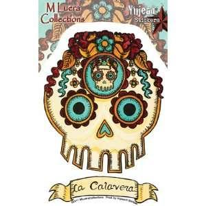 La Calavera Day of the Dead Skull   Sticker / Decal Automotive