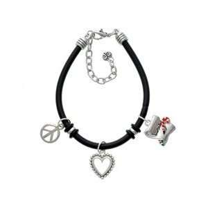 Letter   Dear Santa Black Peace Love Charm Bracelet Arts