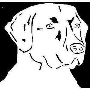 Hunting lab labrador dog vinyl window decal sticker.