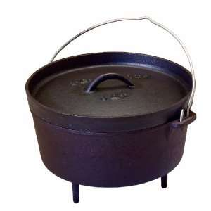 Texsport Pre Seasoned Cast Iron Dutch Oven   4 Quart