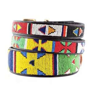 Primary Colors Beaded Dog Collar Pet Supplies